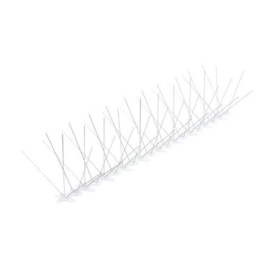 דוקרן קלשון להרחקת יונים | בסיס פוליקרבונט רחב 5 קוצים